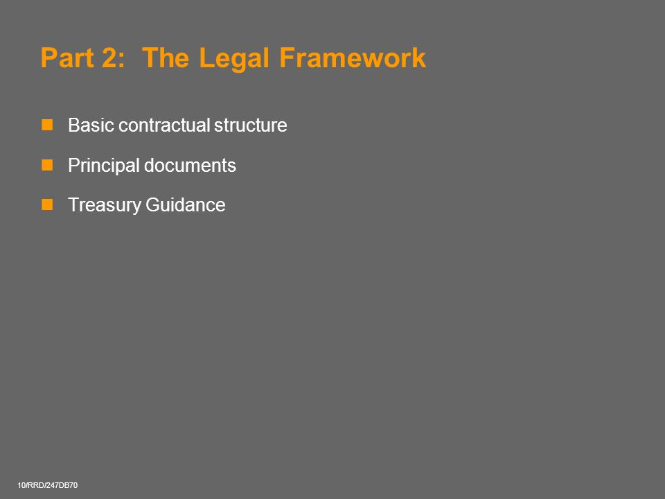 Part 2: The Legal Framework