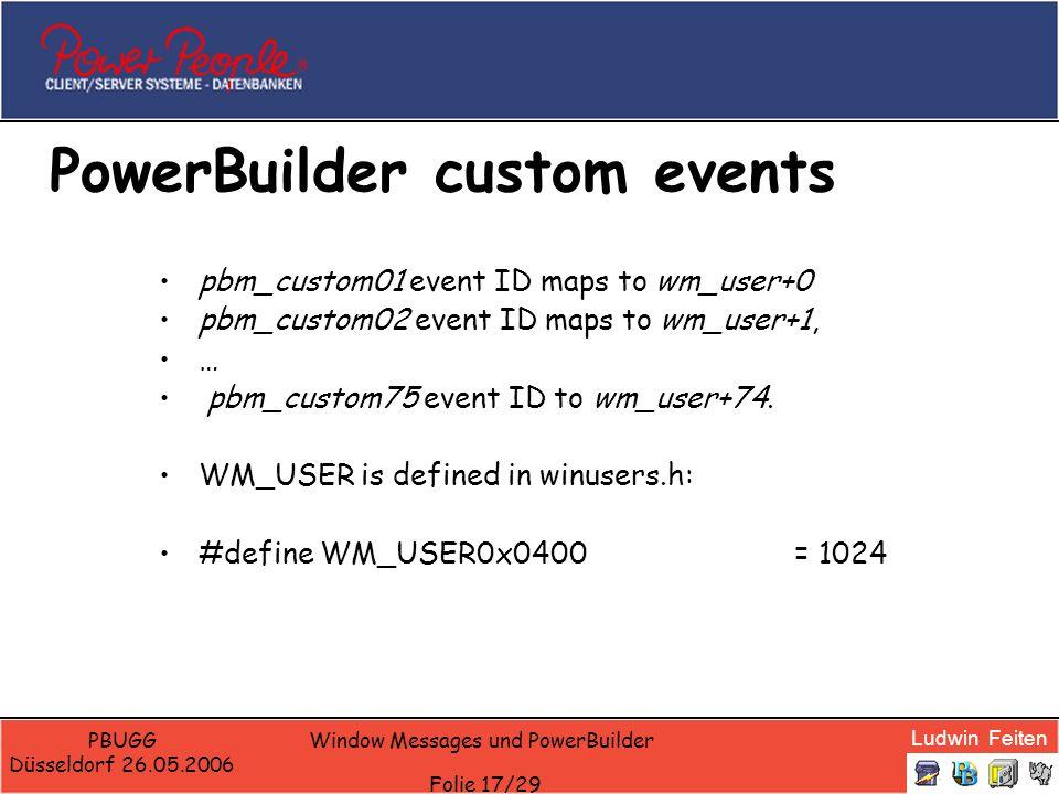 PowerBuilder custom events