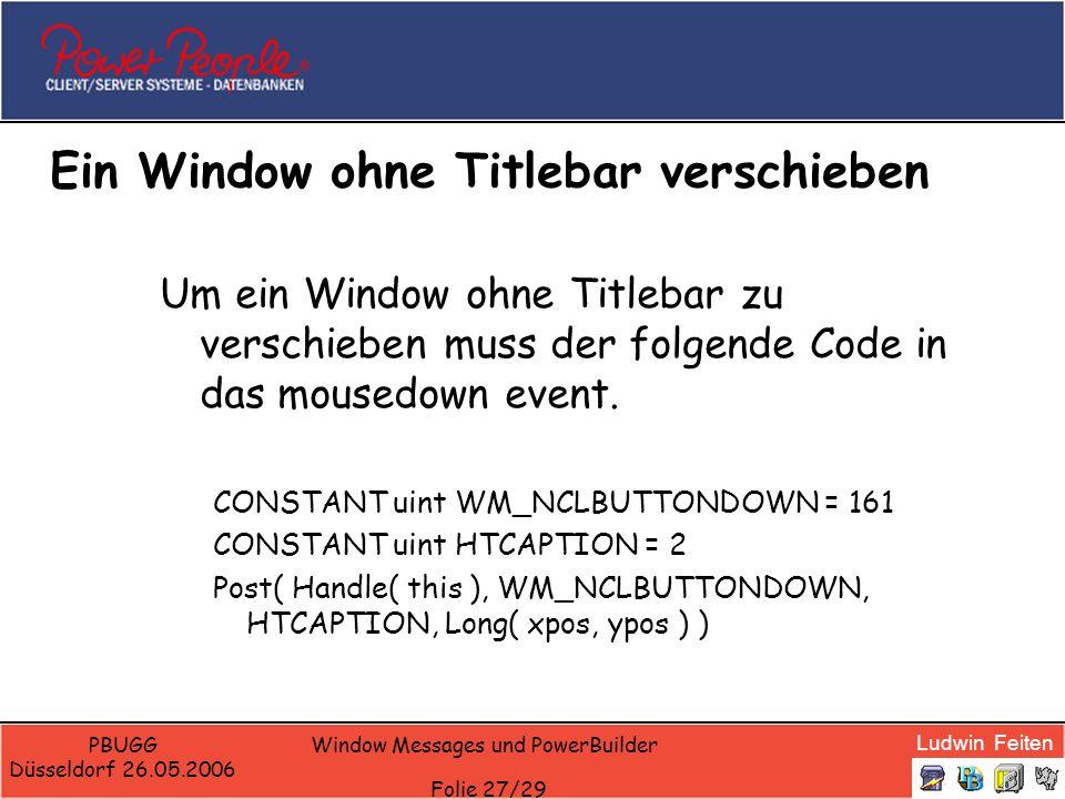 Ein Window ohne Titlebar verschieben