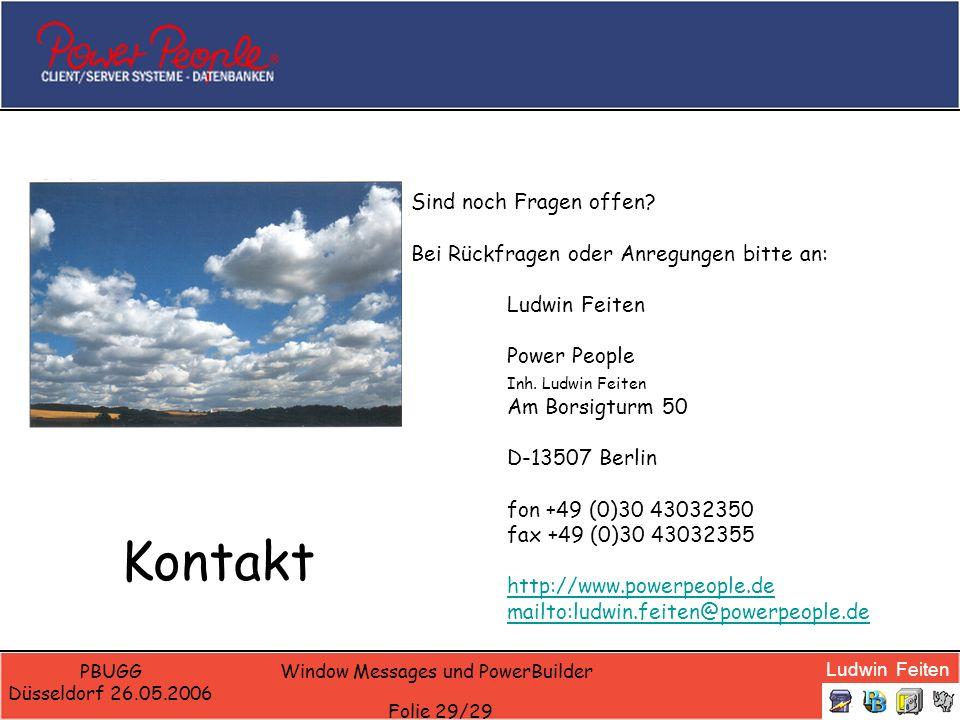 Window Messages und PowerBuilder