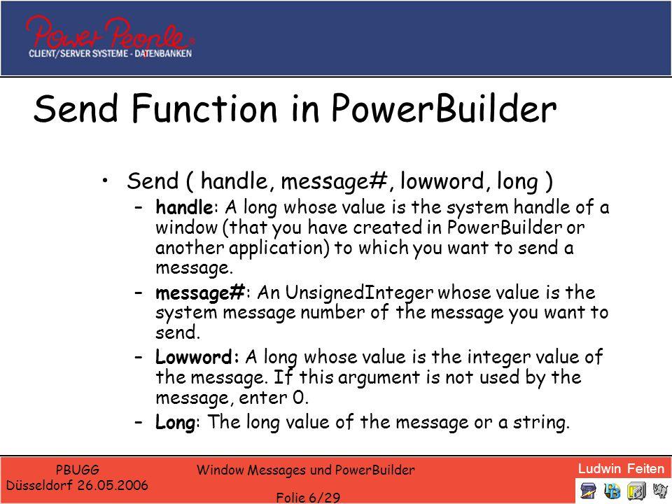 Send Function in PowerBuilder