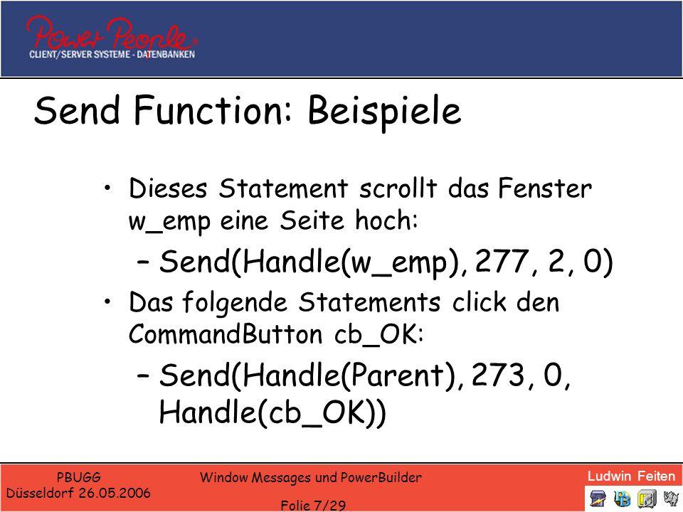 Send Function: Beispiele