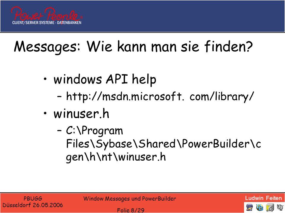 Messages: Wie kann man sie finden