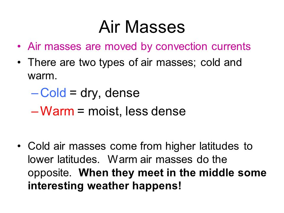 2 air masses meet happens