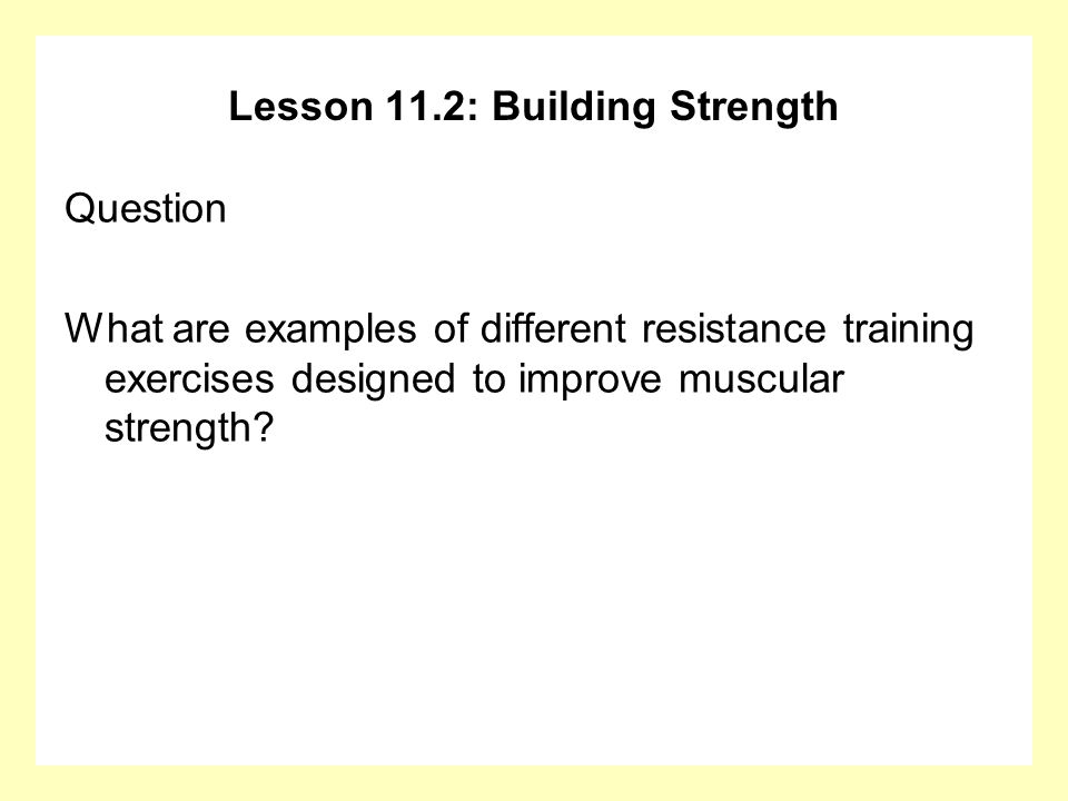 strength examples
