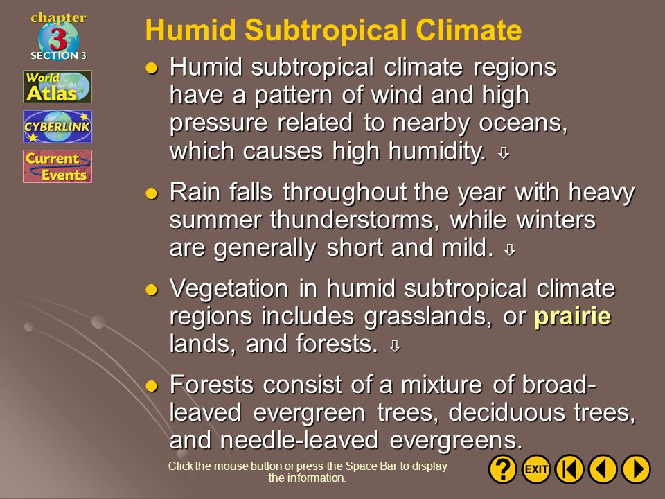 Humid Subtropical Climate