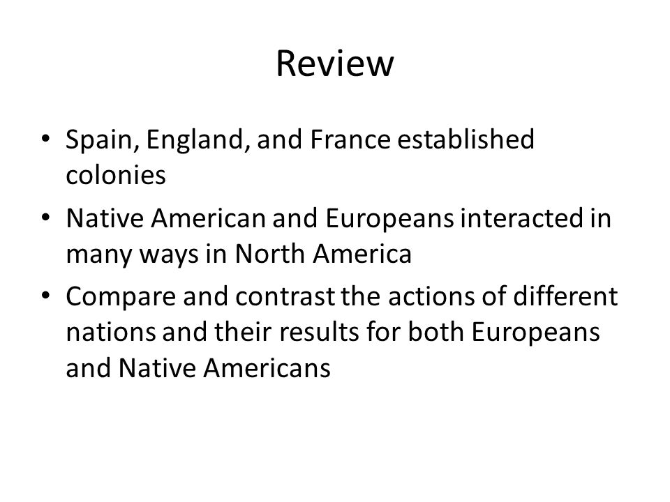 compare and contrast treatment native americans britain Ap® united states history 2016 scoring guidelines  students were asked to compare and contrast  the english regarding interactions wi th native americans.