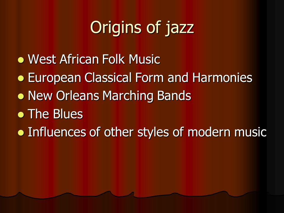 the influence of jazz on modern Get an answer for 'what are the aesthetic objectives of modern dance as compared to classical ballet and jazz what cultural and historical factors should be included in the comparison of the three concert dance forms' and find homework help for other arts questions at enotes.