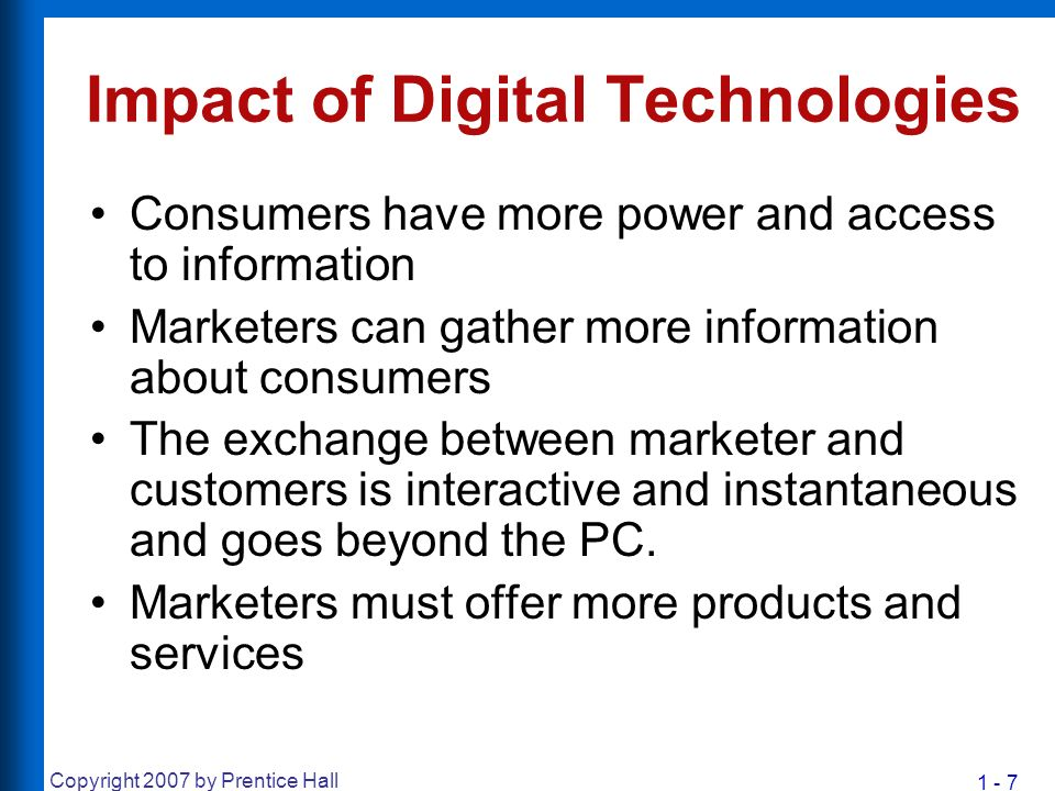 the impact of digital technologies on marketing strategies and consumer behavior Things like big data and disruptive digital technologies are paving the way for a new digital marketing strategies  impact consumer behavior, but the marketing.