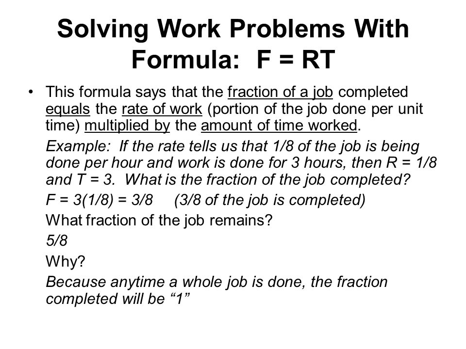 Solving Work Related Problems