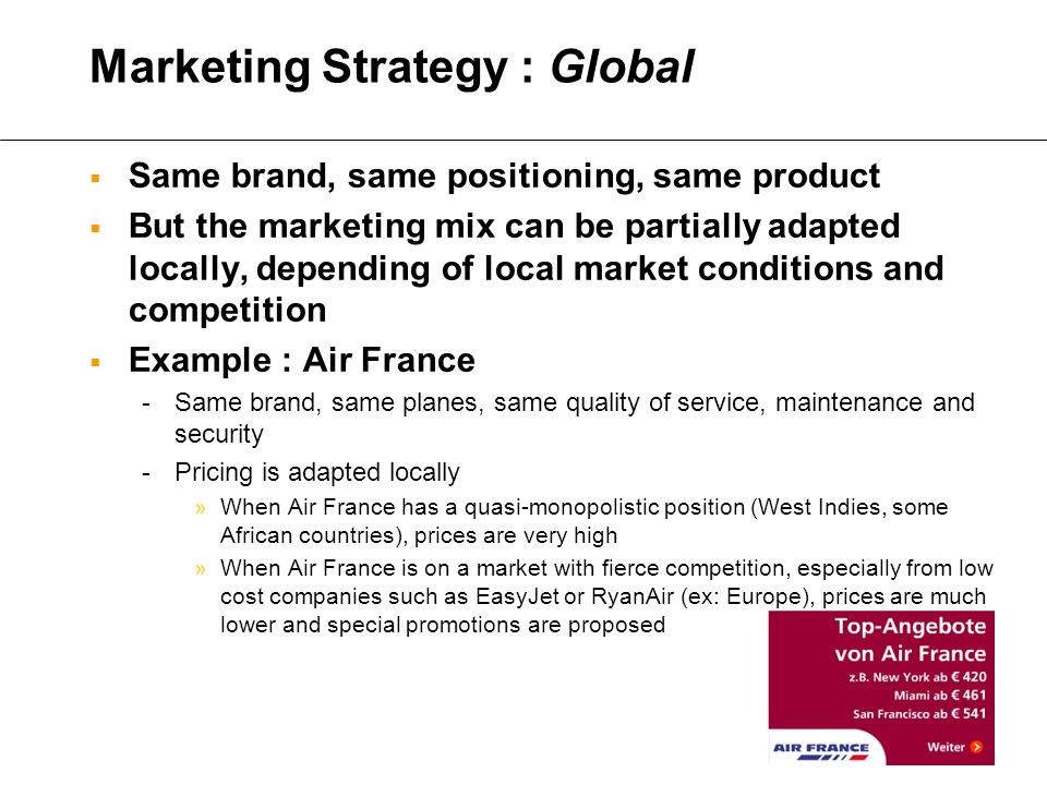 easyjet marketing strategy The primary purpose of this report is to analyze business model of the easyjet airline and studythe marketing strategies, specially the emarketing aspects of the organization easyjet is a low cost airline.