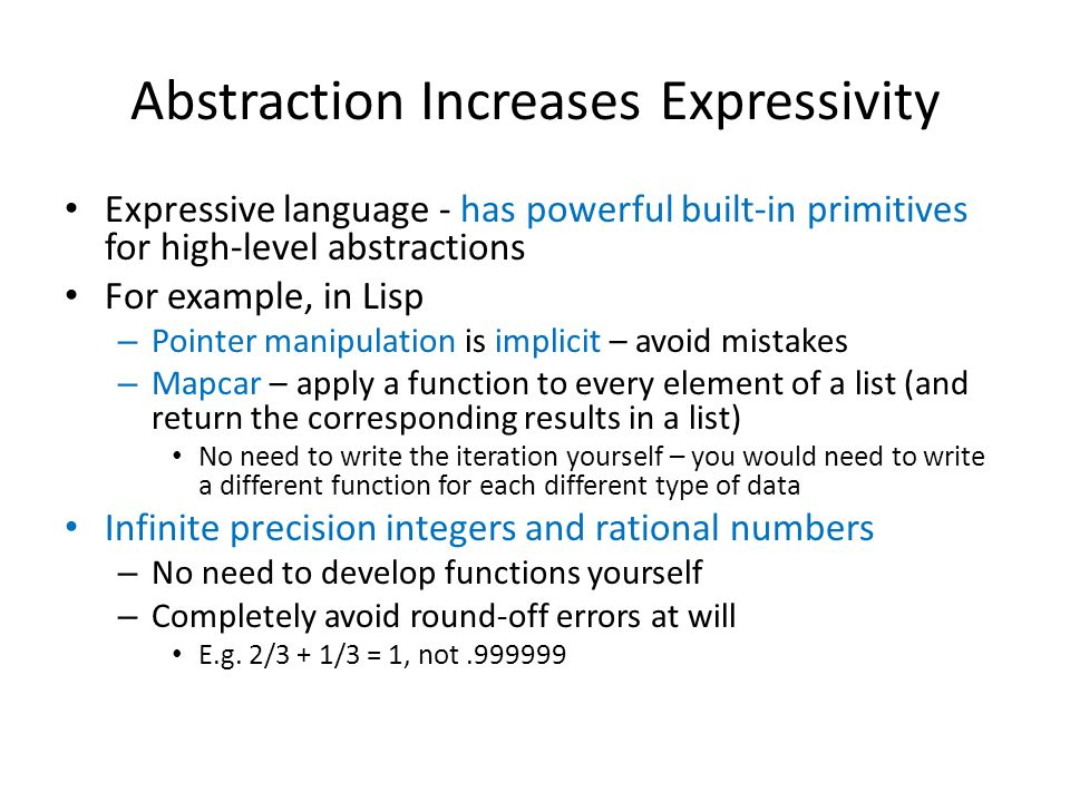 Abstraction Increases Expressivity
