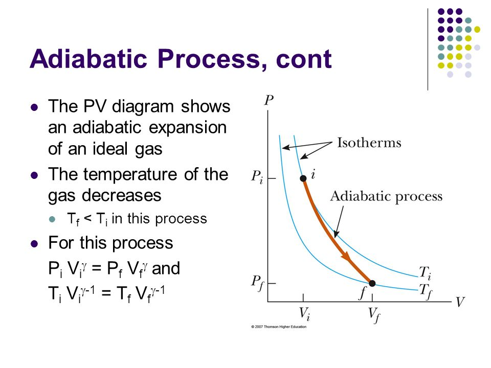 pressure and temperature relationship adiabatic engine