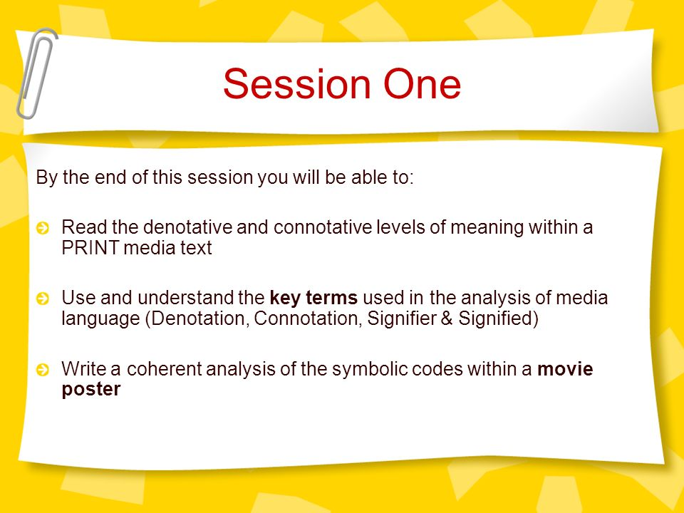 Introduction to Media Language - ppt download