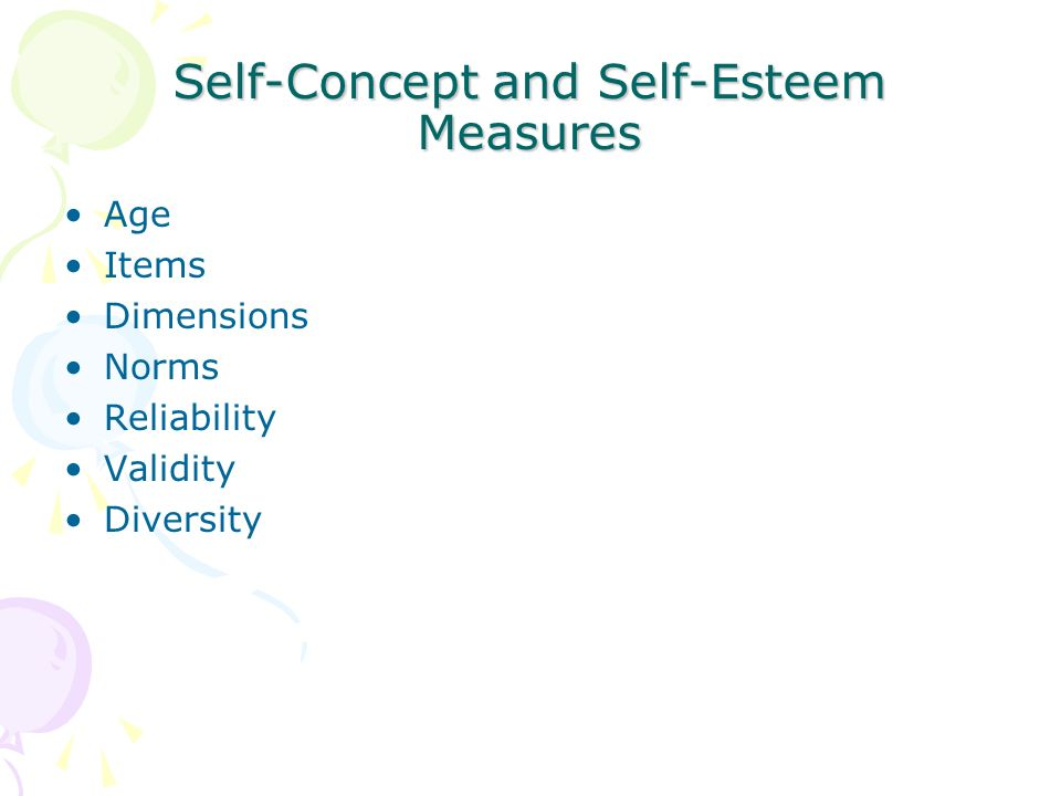 self concept and self esteem Hierarchical models of self-concept and self-esteem are multifaceted.