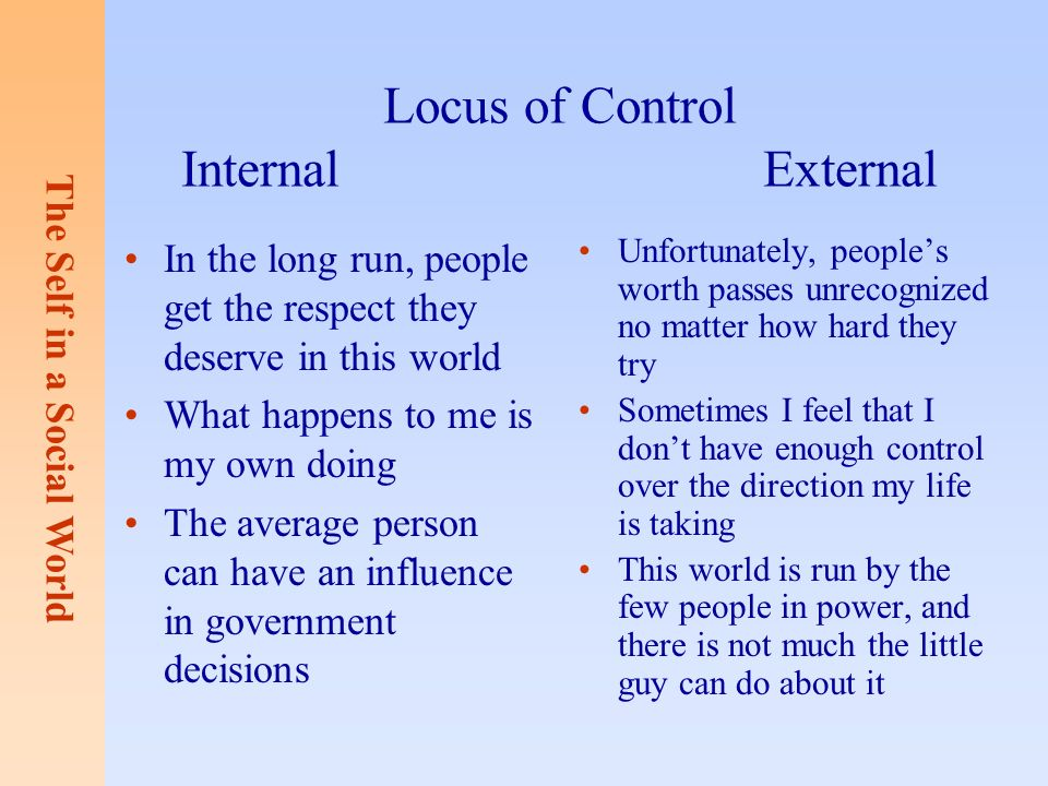 internal and external social control External social control is made up of a  social control because internal social control doesn't always work, groups also apply external pressures to persuade or.