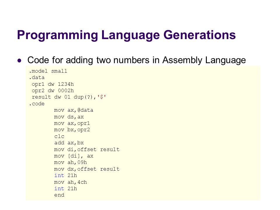 Programming Language Generations