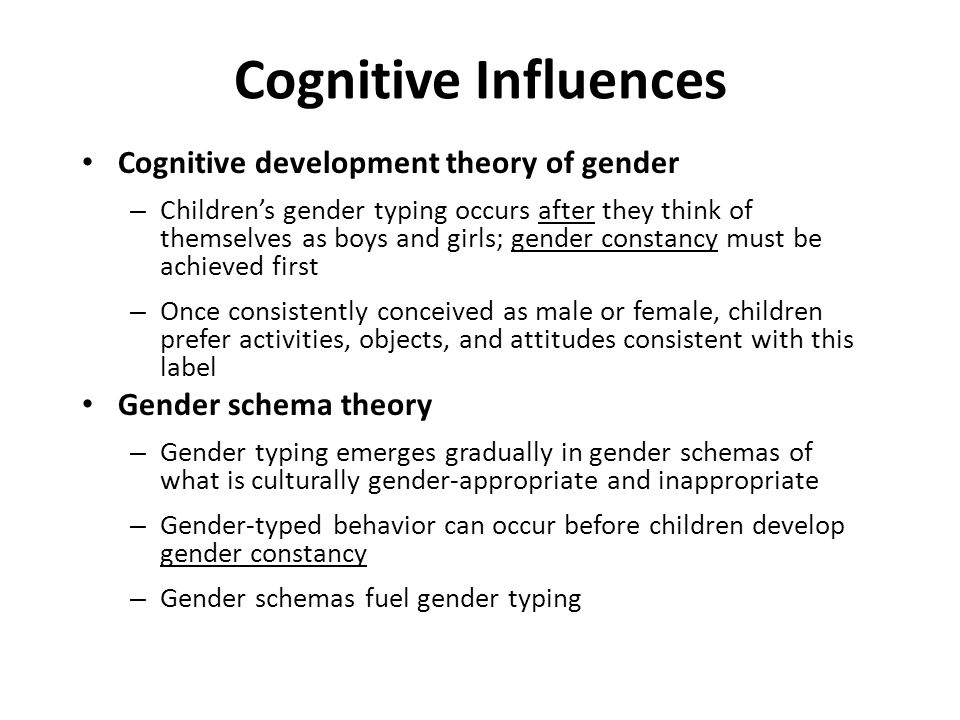 cognitive approach to gender Sex-related differences of cognitive functioning is  since studying gender  differences in cognition, kimura has further.