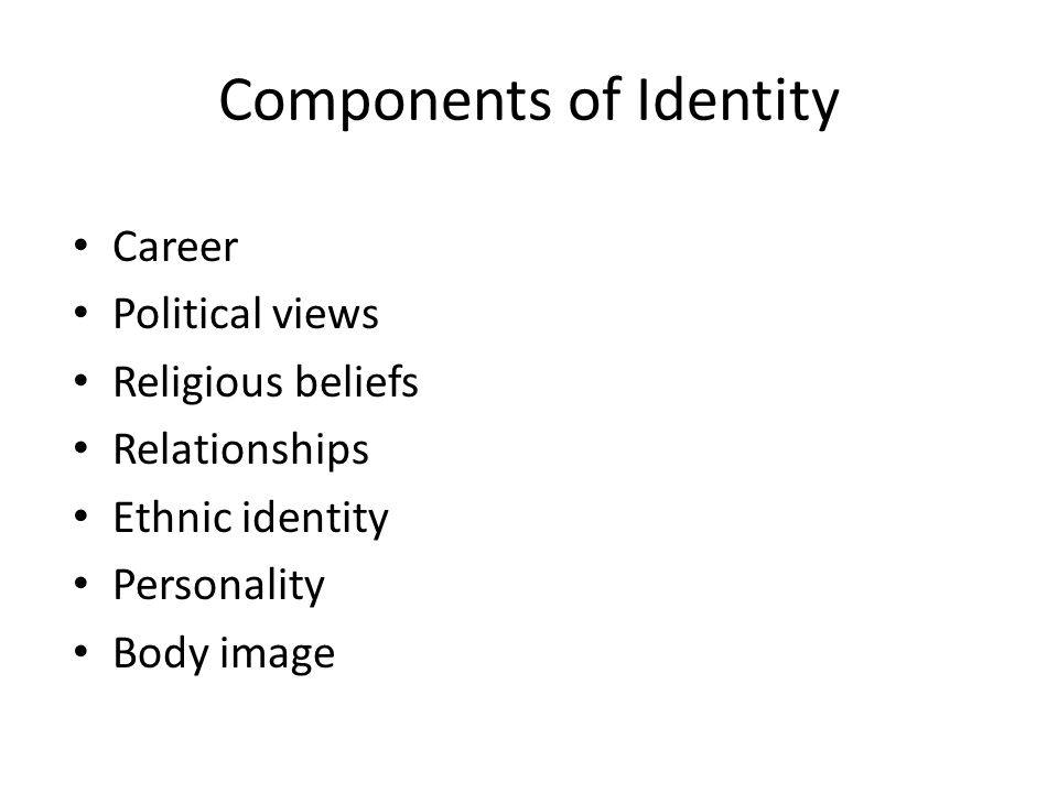 Components of Identity