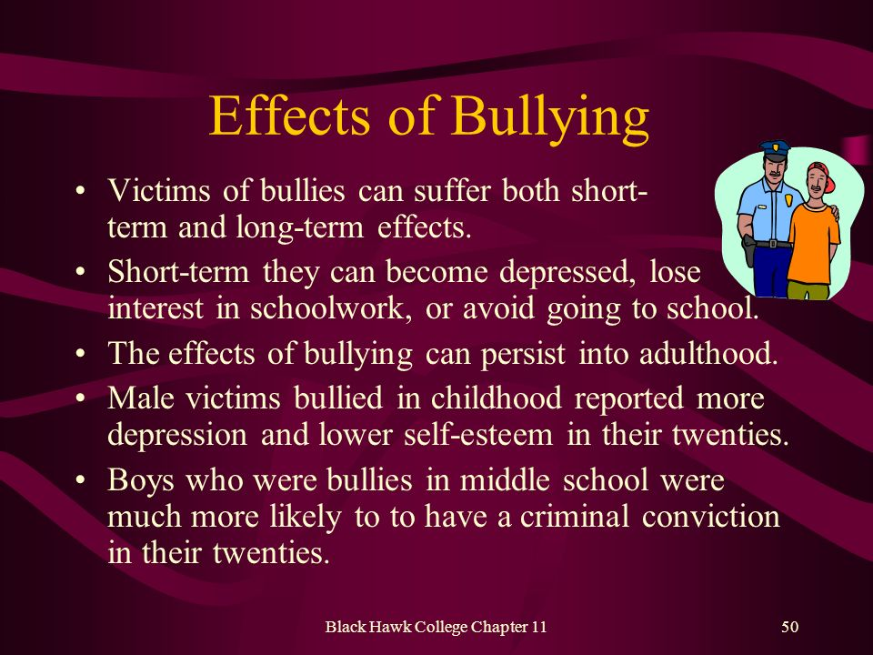 The Short and Long-Term Impact of Bullying