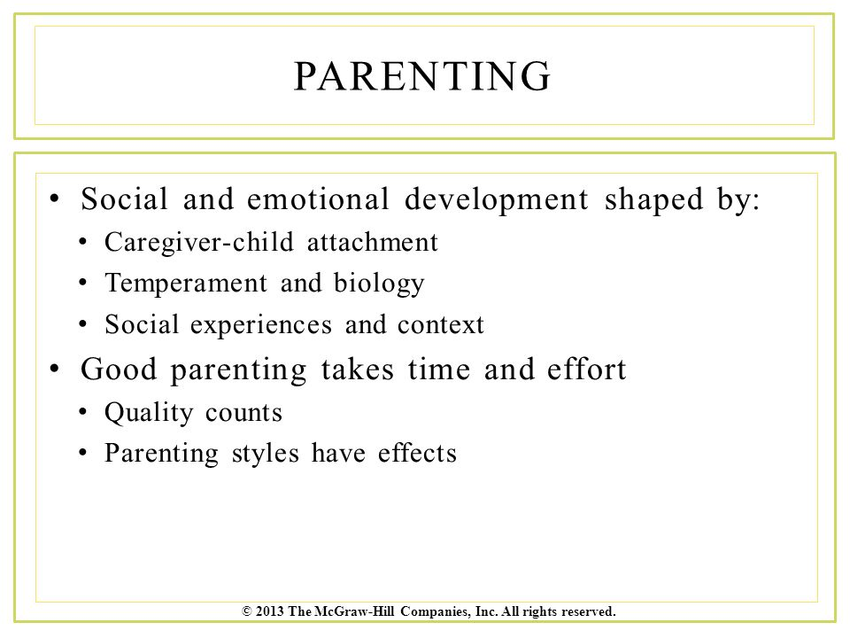 parenting styles and children s social development Objectives: parenting a child who has a severe or profound hearing loss can be challenging and at times stressful, and might cause parents to use more adverse parenting styles compared with parents of hearing children parenting styles are known to impact children's social-emotional development children with a severe.