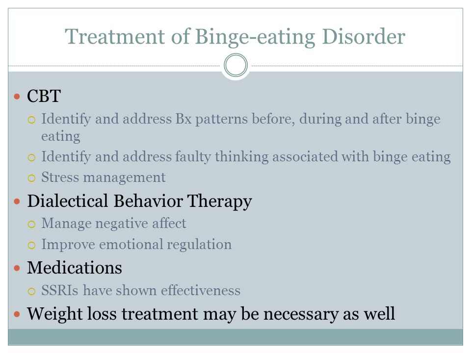 an analysis of eating disorders Research provides strong evidence for an inherited predisposition (tendency) toward developing an eating disorder in other words, eating disorders a.