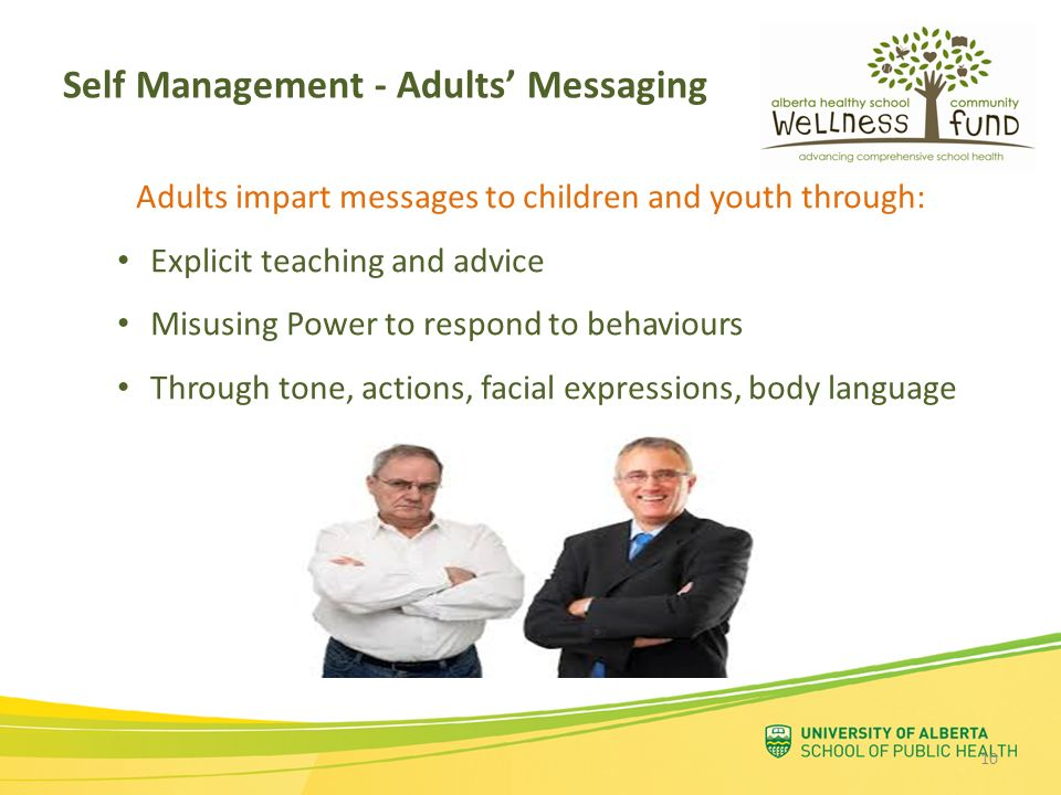 Self Management - Adults' Messaging