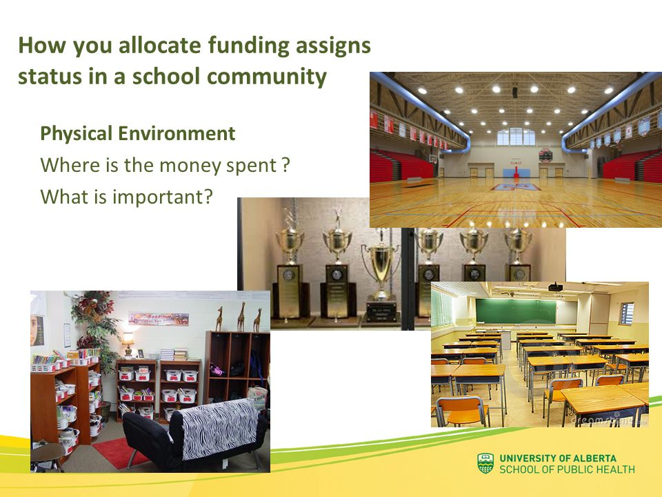 How you allocate funding assigns status in a school community