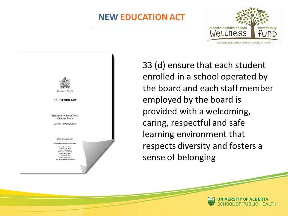 NEW EDUCATION ACT