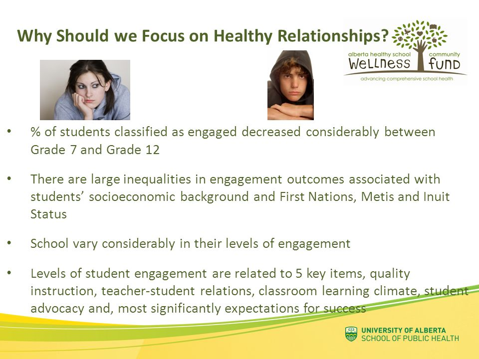 Why Should we Focus on Healthy Relationships