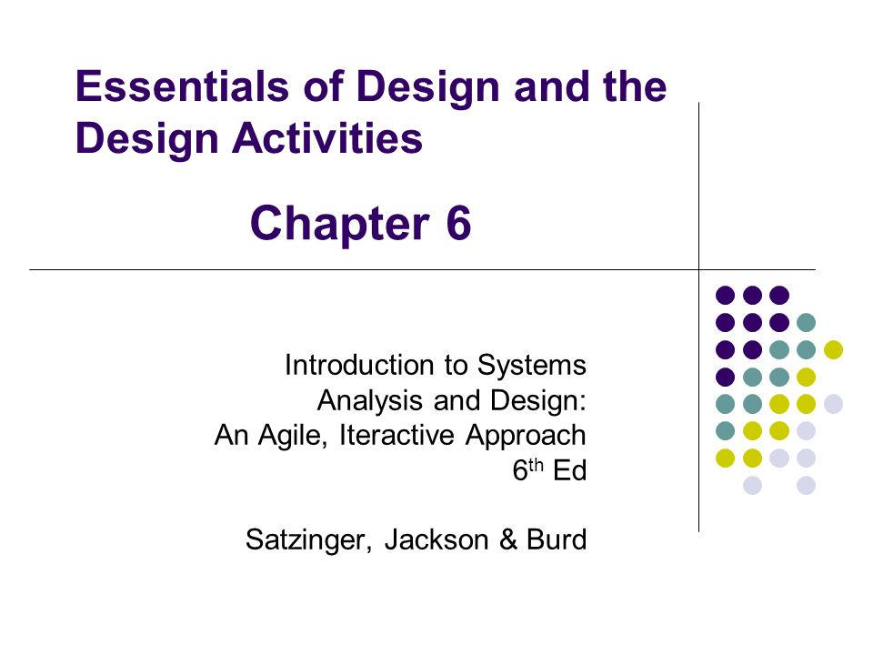 introduction to systems analysis and design satzinger pdf