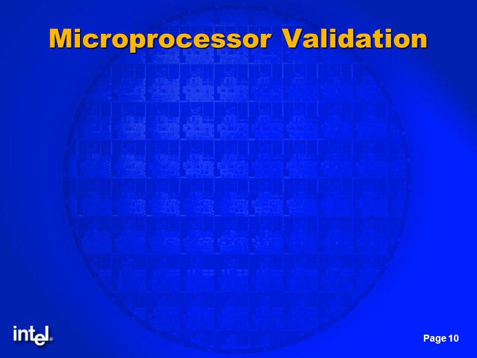 Microprocessor Validation