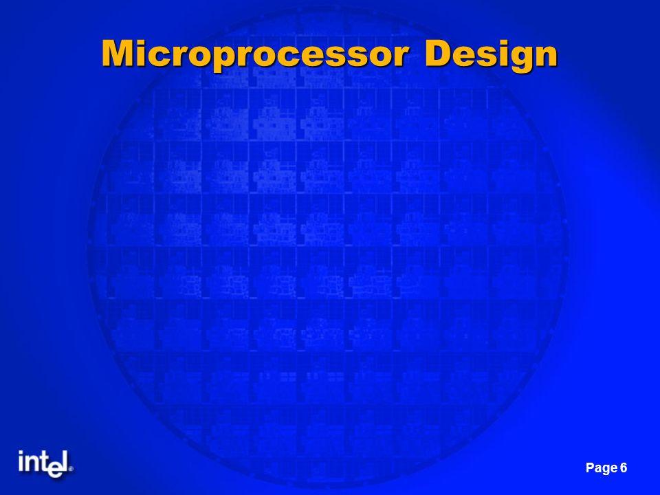 Microprocessor Design