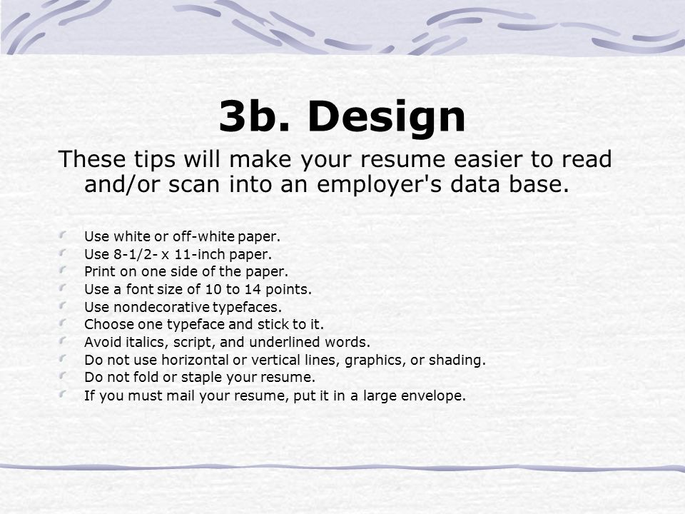 design these tips will make your resume easier to read andor scan - Resume Font Size 10 Or 11