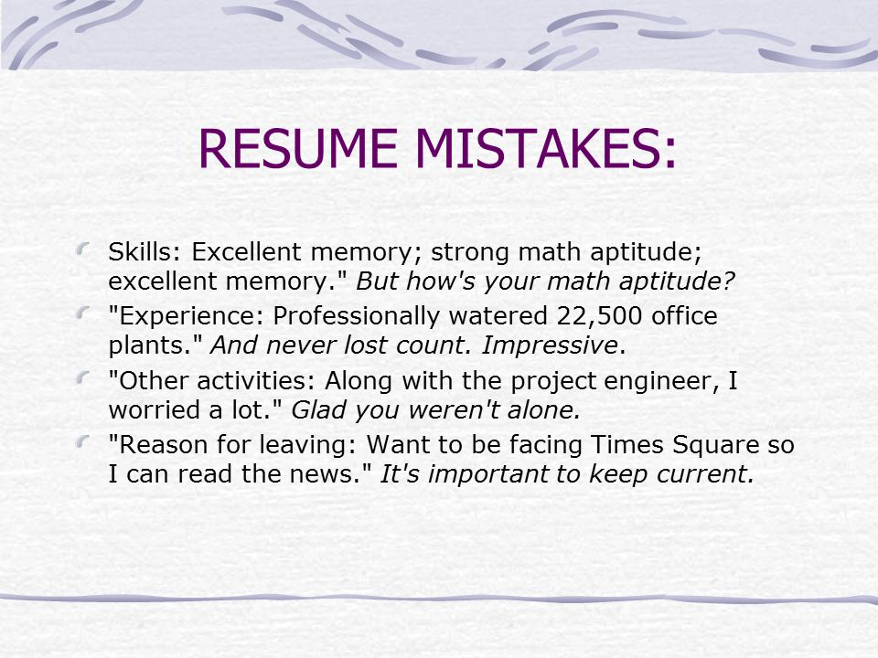 a guide to resume writing ppt download