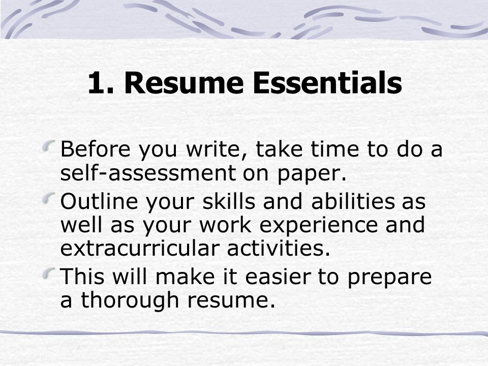 A GUIDE TO RESUME WRITINGppt download