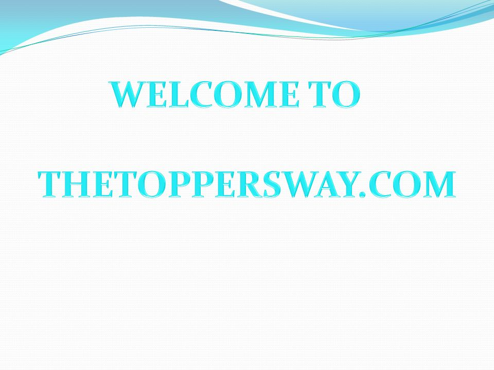 WELCOME TO THETOPPERSWAY.COM
