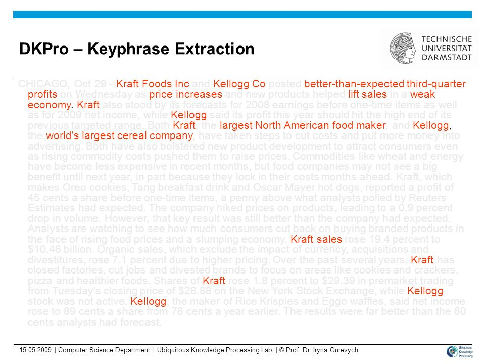 DKPro – Keyphrase Extraction