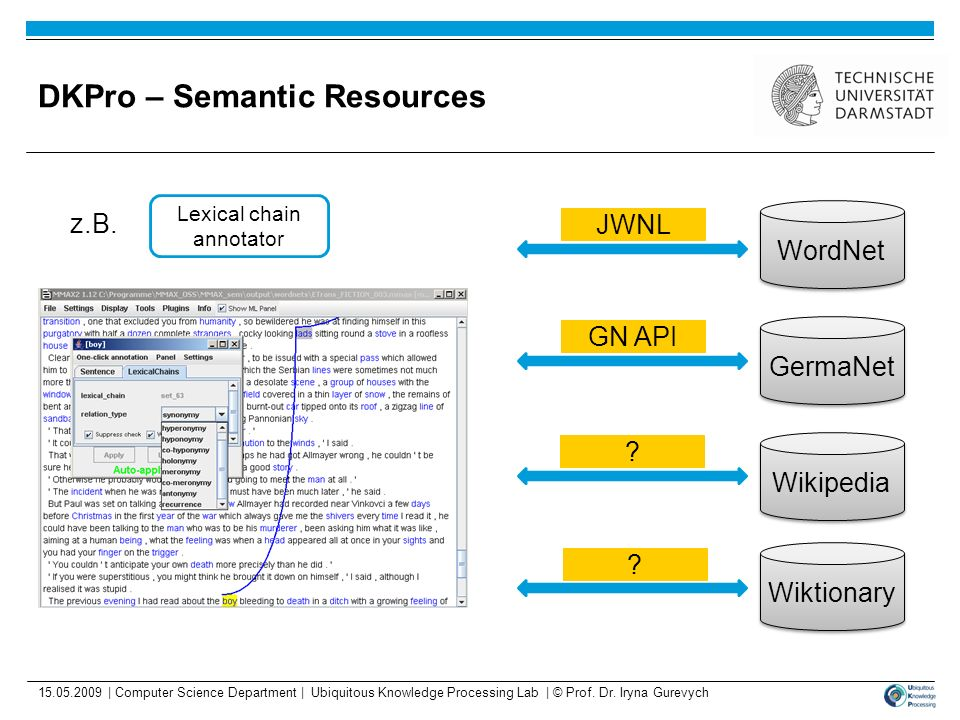 DKPro – Semantic Resources