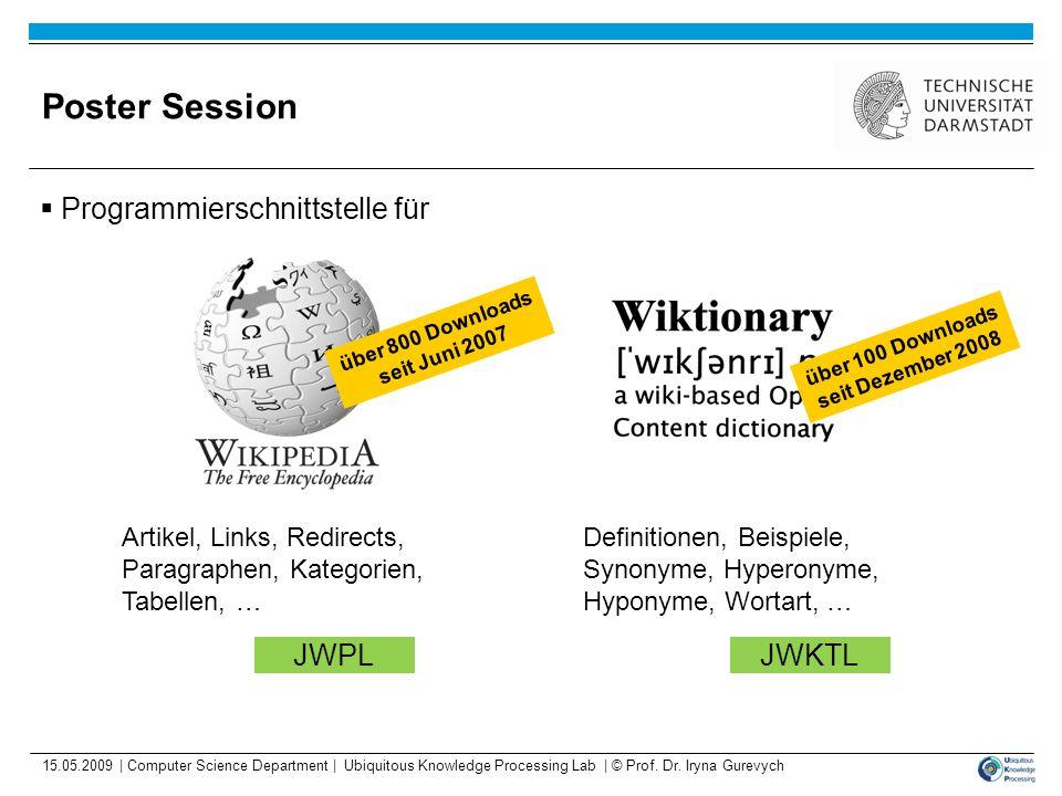 Poster Session Programmierschnittstelle für JWPL JWKTL