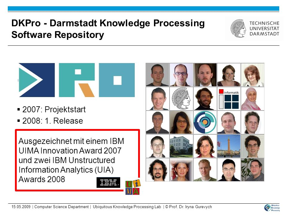 DKPro - Darmstadt Knowledge Processing Software Repository