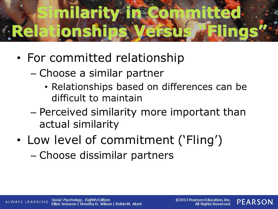committed relationship vs dating games