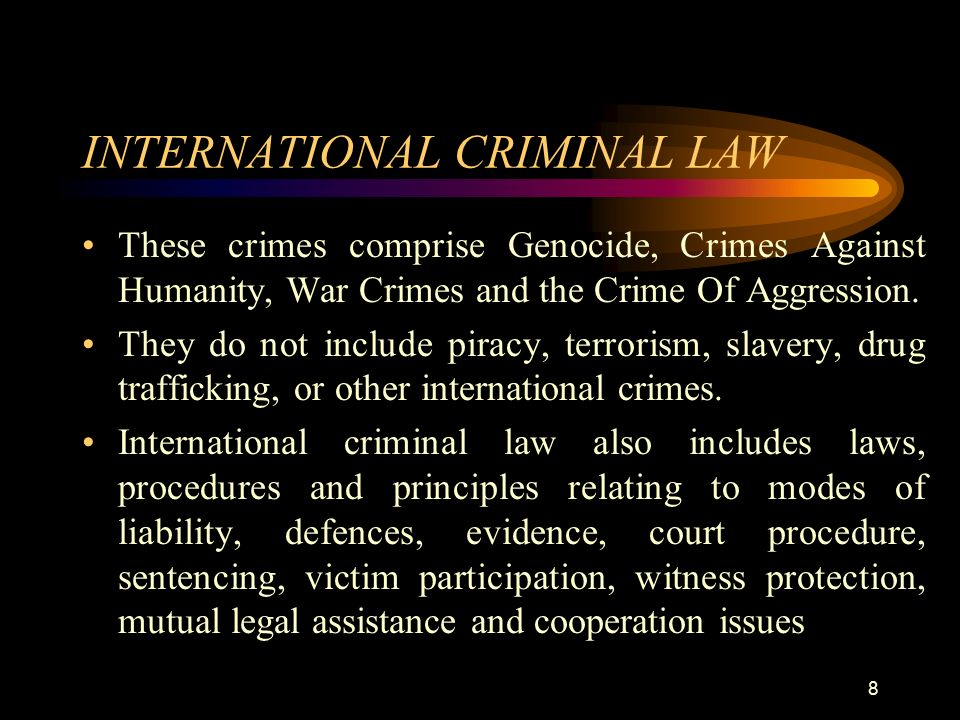 international criminal law This subject will provide a comprehensive overview of the emerging discipline of international criminal law the discipline will be approached historically, theoretically, and critically first, the module will examine the historical origins of the fundamental principle of international criminal law.