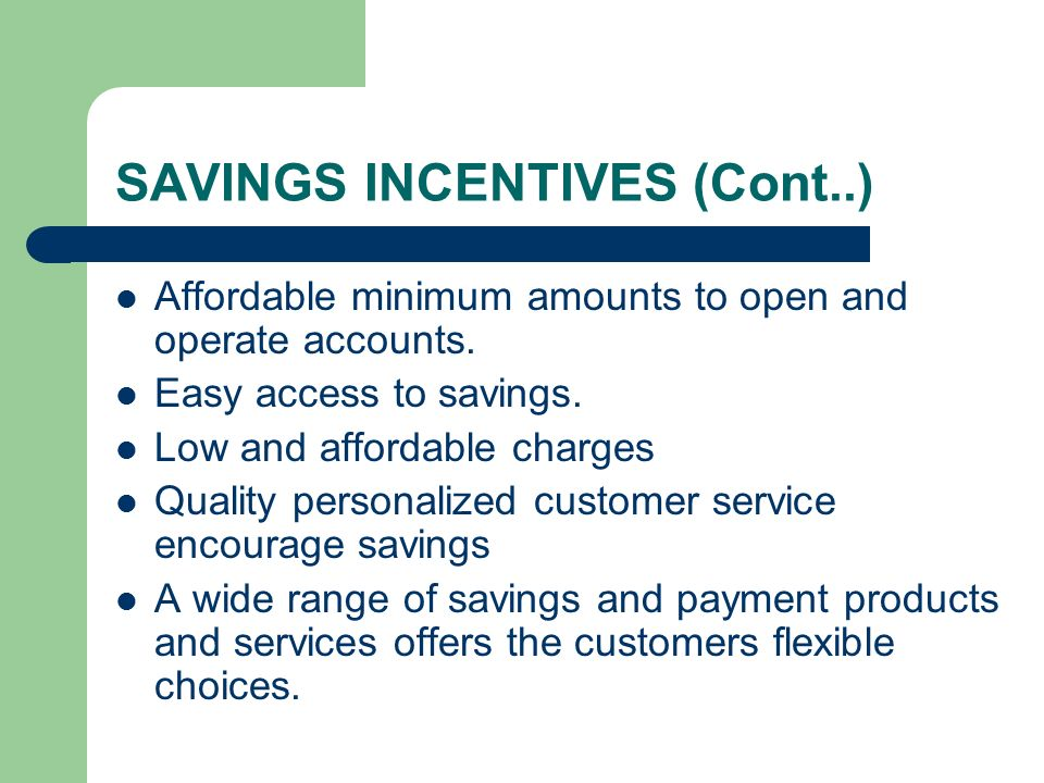 SAVINGS INCENTIVES (Cont..)