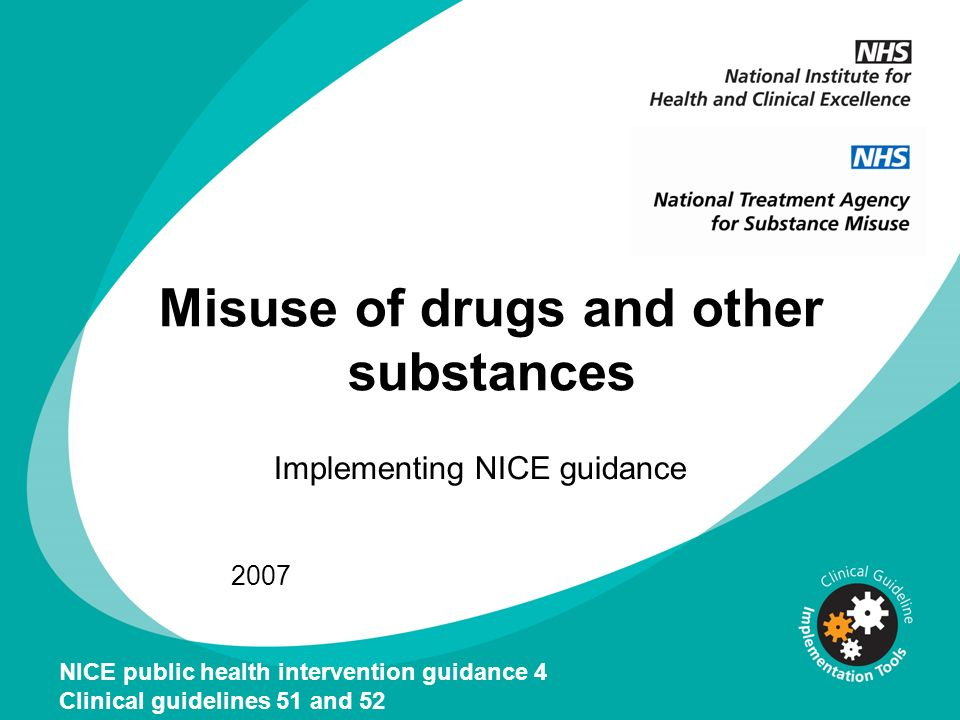 Misuse of drugs and other substances