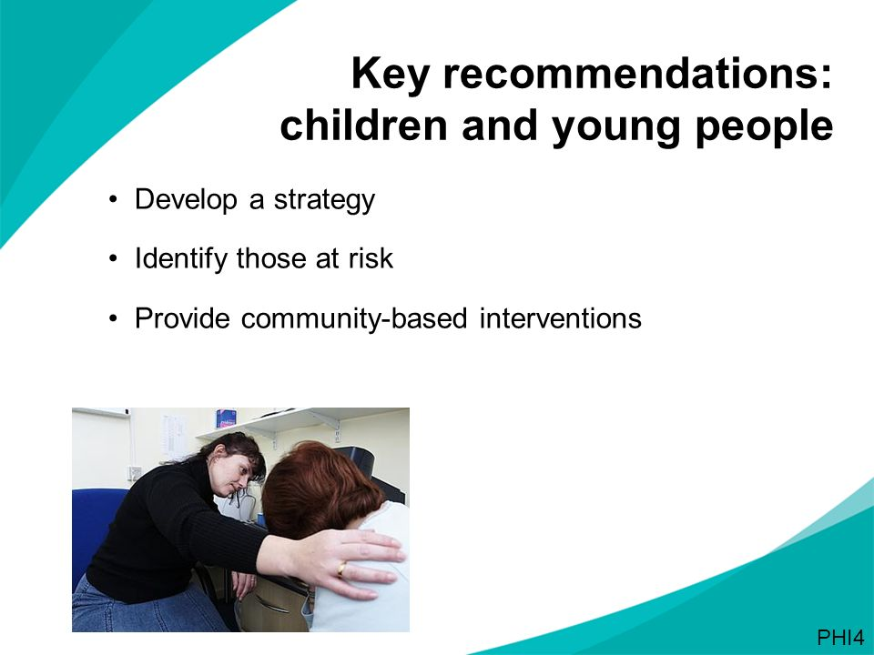 Key recommendations: children and young people
