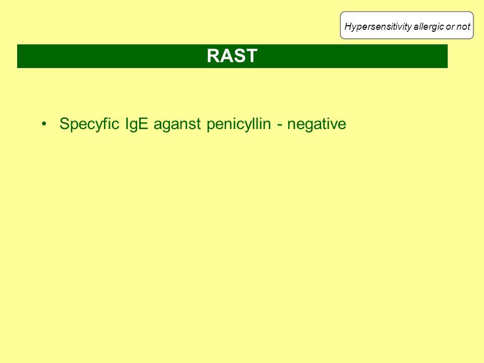 Hypersensitivity allergic or not