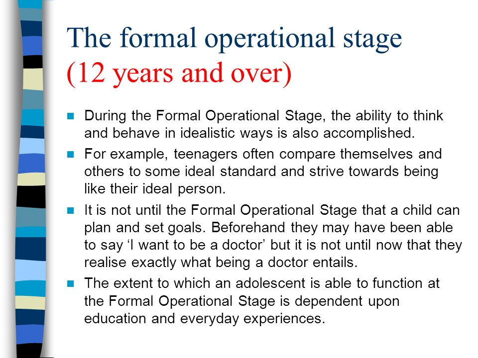 jean piaget theory, slide powerpoint presentation, real life examples, developmental issue, abstract thinking, on formal operational stage thoughts examples