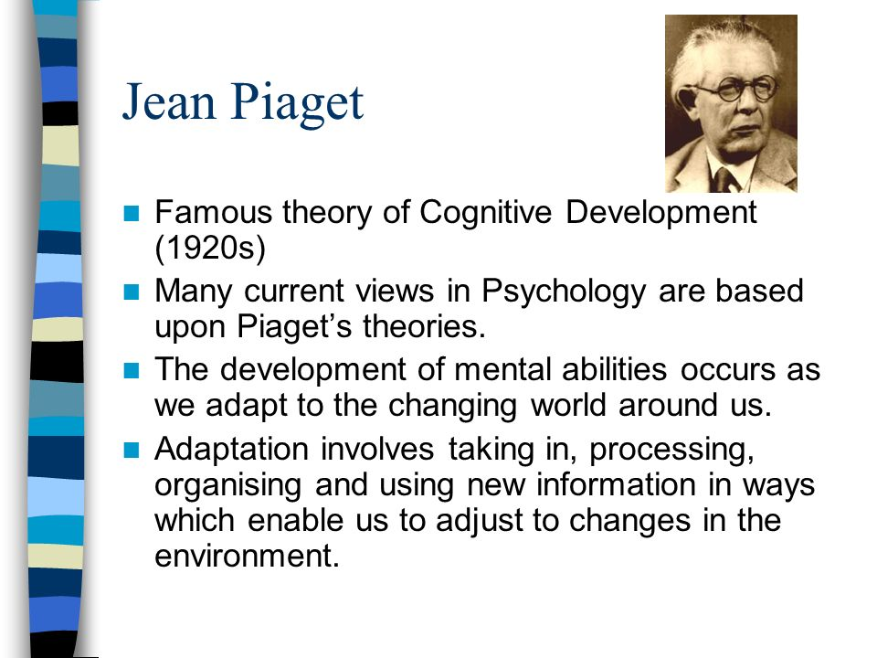 jean piagets theory of cognitive development