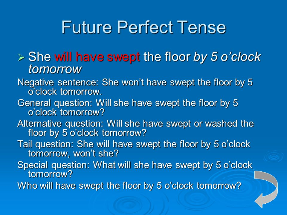 The tense of the verb in active voice ppt video online for Floor sentence